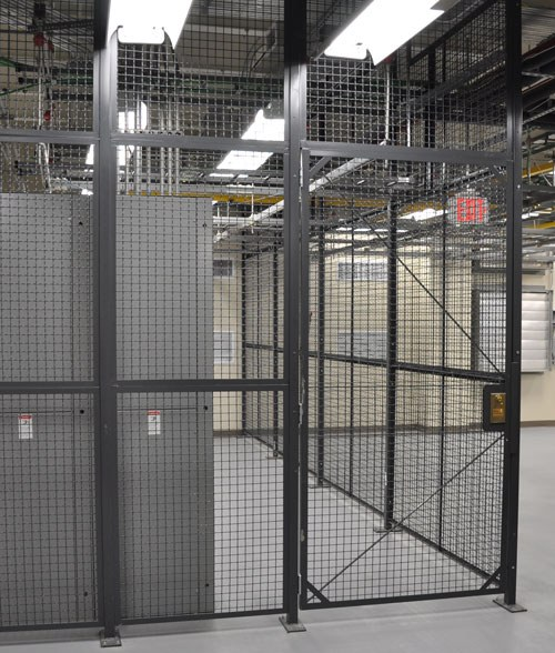 Wirecrafters Wire Partition Storage Cage Hinged Door